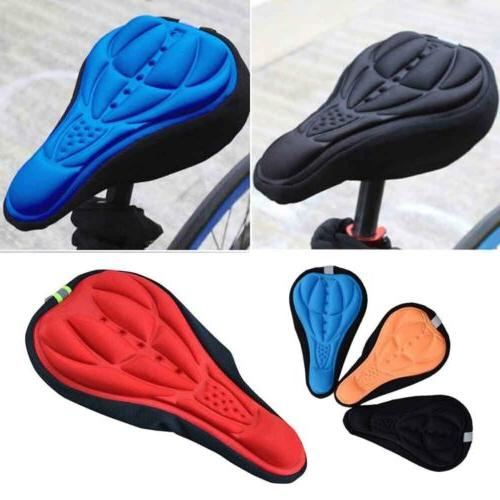 Bike Bicycle 3D Gel Silicone Saddle Seat Cover Pad Padded So