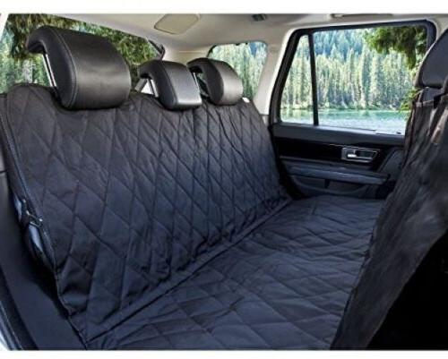 Black BarksBar Luxury Pet Car Seat Cover With Seat Anchors F
