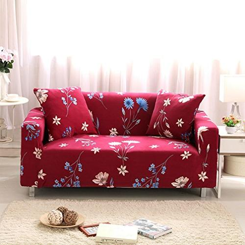 AbbeyTening Blue flower red Sofa Slipcover Sofa Covers Chair Covers  One-Seater Protectors Couch Covers Featuring Soft Form Fit Slip Resistant  35-55 ...