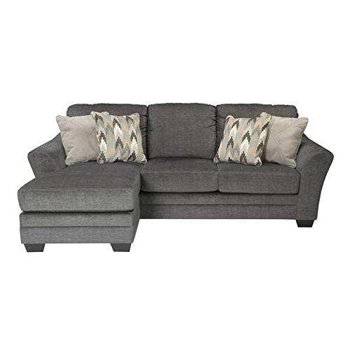 Awesome Benchcraft 8850218 Sofa Chaise Charcoal Onthecornerstone Fun Painted Chair Ideas Images Onthecornerstoneorg