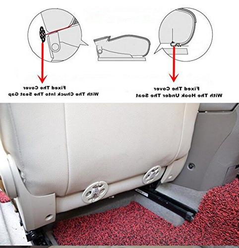 EDEALYN Soft Leatherette Front Seat cover Chair 52 x