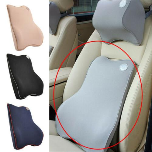 Car Seat Back Support Cushion Memory Foam Breathable Chair L