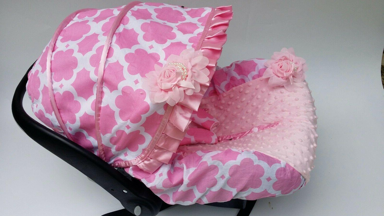baby car seat cover canopy cover pink flower fit Most infant