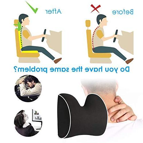 Feagar Pillow, Headrest Cushion Neck Relief&Cervical Support with Adjustable and Pure Design