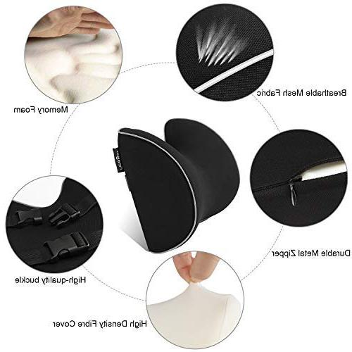 Feagar Seat Neck Pillow, Headrest Neck Pain with and Pure Memory Foam Design