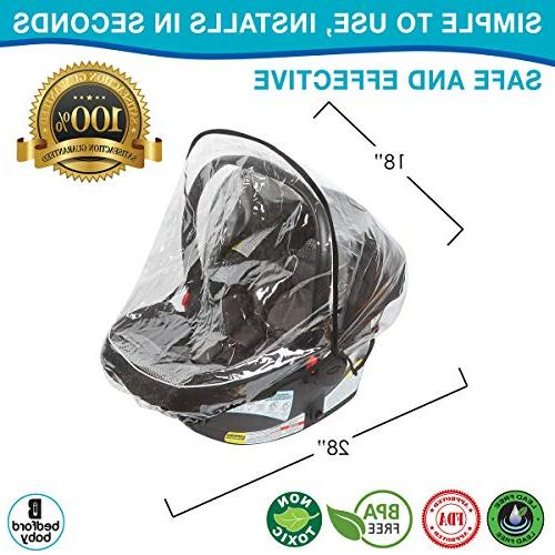 Car Seat – Universal Shield Doona, Graco, Maxi Infant Ventilation Waterproof, Snow and