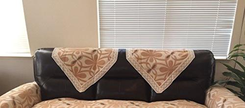 chenille lace sofa back covers