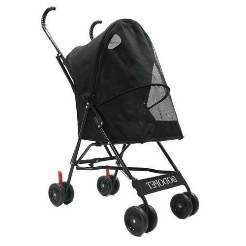 comz light four wheel pet carrier stroller