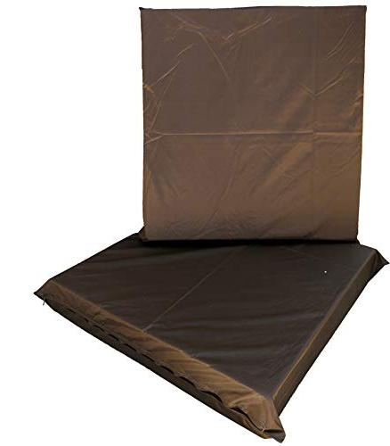"""QQbed 2 Deep Seat Cooling Memory Foam Seat Waterproof Extra Large Size 24""""X22""""X4"""""""