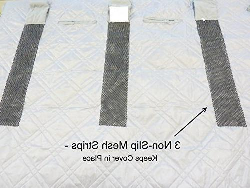 """Deluxe and Dog Car Back Cover Back Best for and SUV - With Your Pet Free - 56""""x94"""", Grey"""