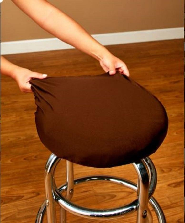 Dining Seat Set 2 Fits Bar Stool Cover Set
