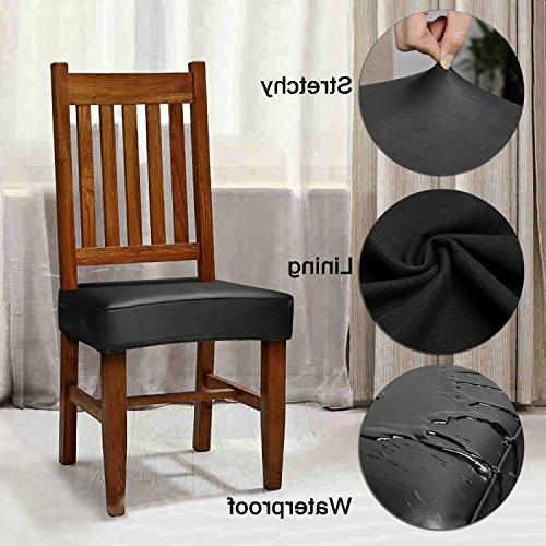 Fuloon Covers,PU Leather Waterproof Oilproof Dining Chair Protctor