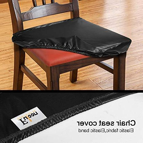 Fuloon Dining Covers,PU Oilproof Chair Cover