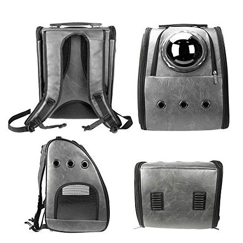 PETRIP Backpack Carrier Cat Backpack for Large Cats 22 Carrier Backpack for Dogs Cat Bubble Approved Pet