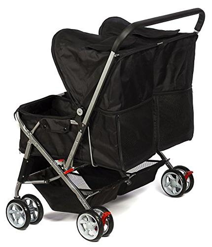 Double Pet Strollers Medium Cats Two Doggy or 2 Kitty Cat Buggy - Doggie Cart