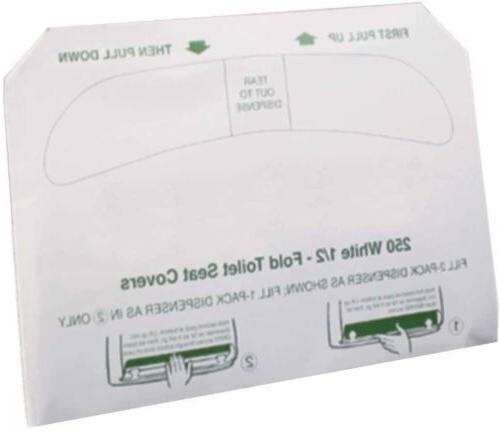 Excellante Half Fold PaperToilet Seat Covers Case 250 Sheet/Pack