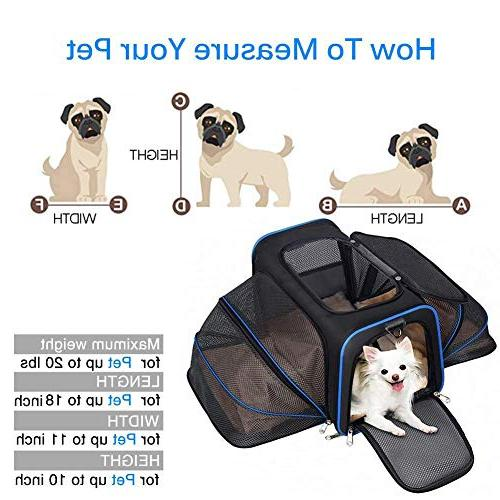 YOUTHINK Expandable Carrier for Dogs Cats, Soft Approved, Perfect Removable Fleece