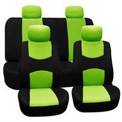 FH-FB050114 Flat Cloth Car Seat Covers, Full Set with Solid