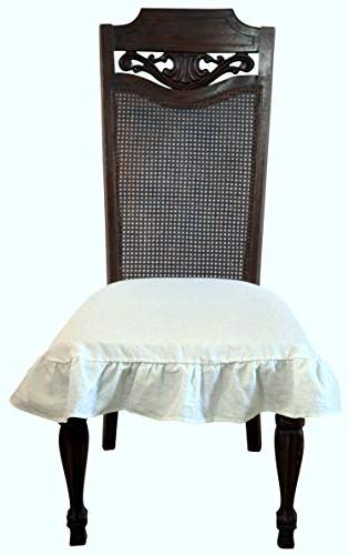 flax linen room chair seat