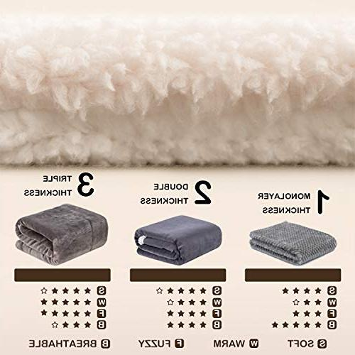 WONDER MIRACLE Fuzzy Sherpa Double Super Thick and Warm Fleece Infant,Baby,Toddler,pet Blanket for Crib, Stroller, Bed