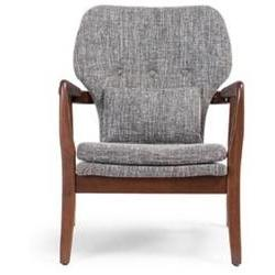 Garrett Tufted Arm Chair, Grey