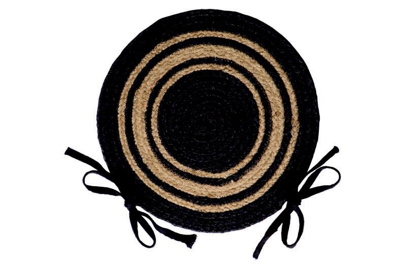 IHF Home Decor Grayson Braided Jute Chair Pad Rug Round Seat