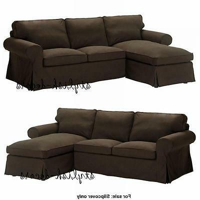 Ikea COVER for Ektorp Sectional Loveseat w/ Chaise Longue Sv