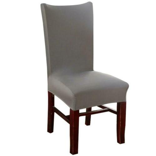 Knit Spandex Fabric Stretch Dining Room Chair Slipcovers Set