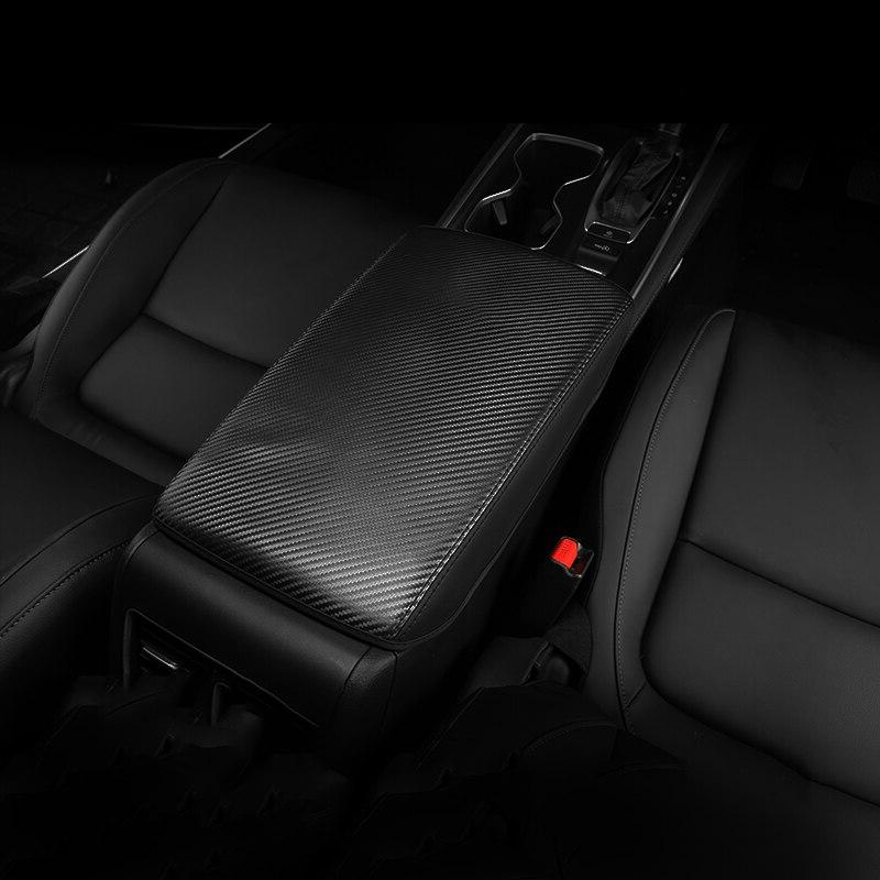 Leather Armrest Pad <font><b>Covers</b></font> Arm Rest Protection Cushion <font><b>AT</b></font> For Honda Accord 10th 2018 Accessories