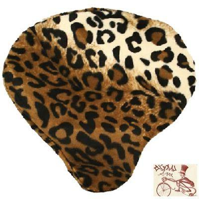 leopard bicycle saddle seat cover