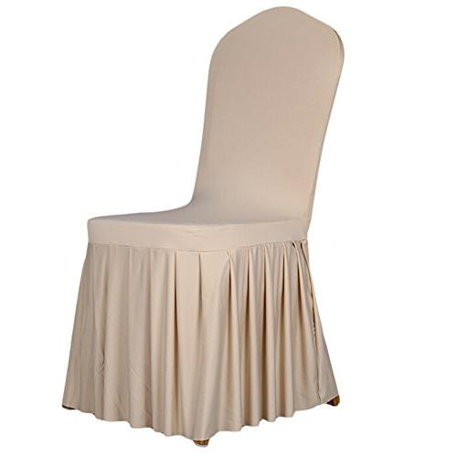 long stretch spandex dining chair