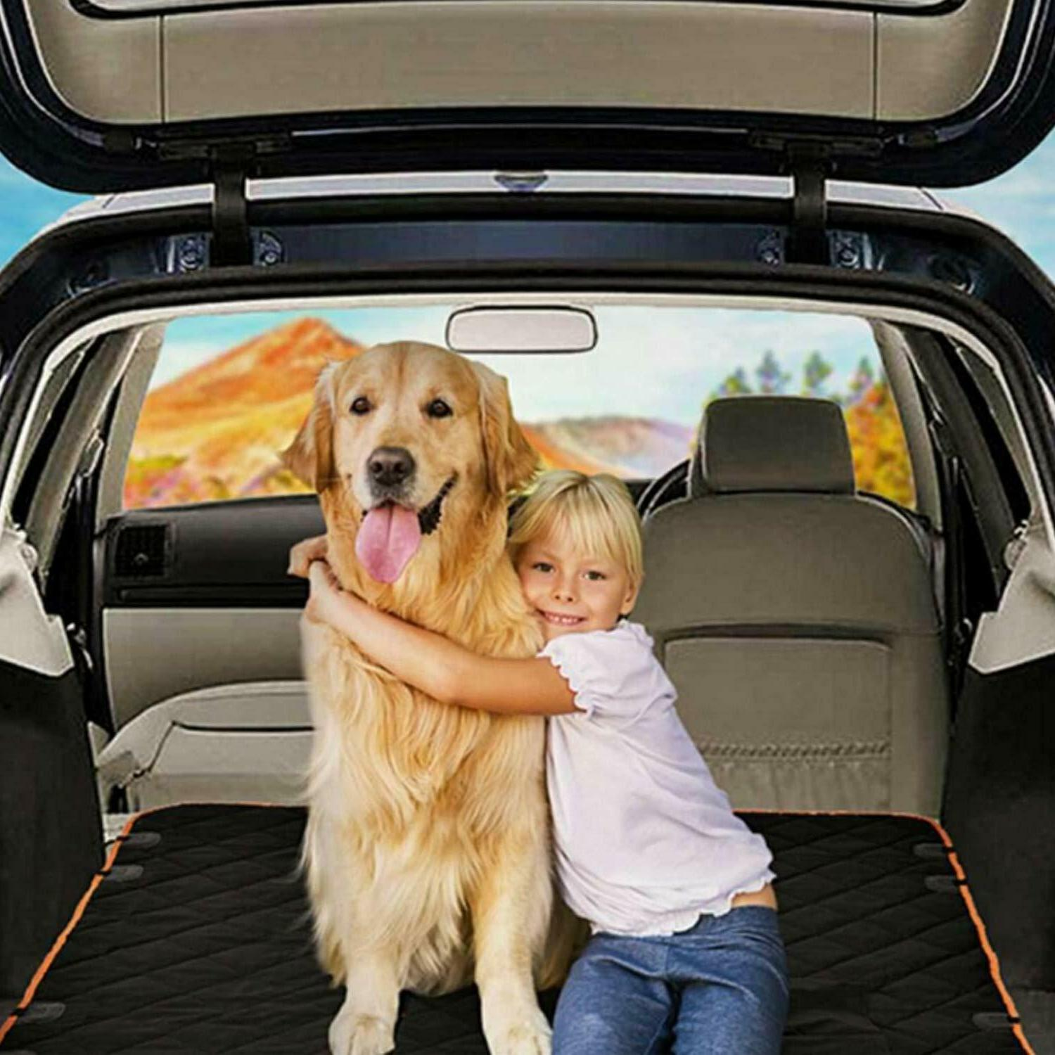Waterproof Seat Cover Hammock Pet SUV Van Back Rear Bench Pad