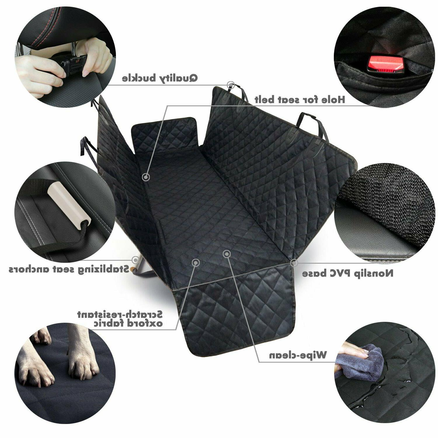 Waterproof Dog Seat Cover Cat Pet Rear Bench Pad