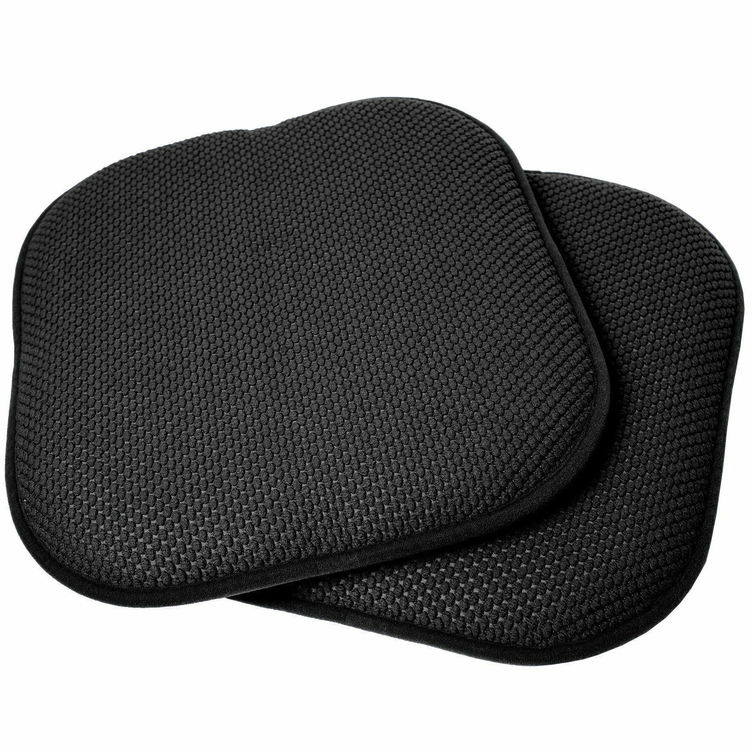 Memory Foam Chair Pads 4 Non Slip Back Chair/Seat Cushion Pa