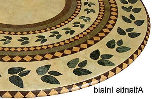 mosaic cloth round elastic edge