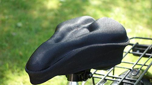 MOST COMFORTABLE Bike Seat Cover Bike Seat - Indoor Outdoor Stationary MTB Exercise. - Standard Seats.