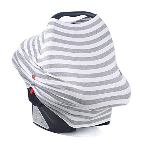 Multi Stretch Car Covers - Nursing Carseat Canopy, Protector for