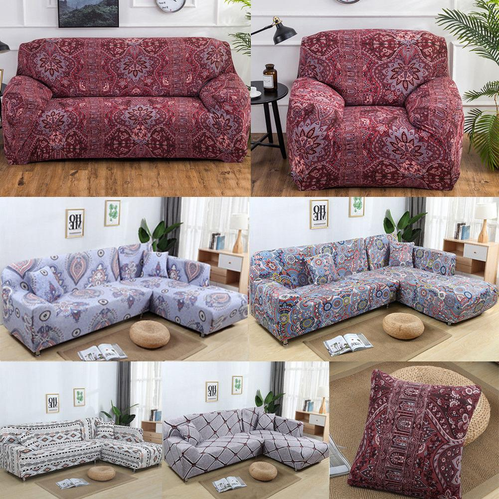 1/2/3/4 Seater Elastic Sofa Cover Slipcover Set Couch Stretc