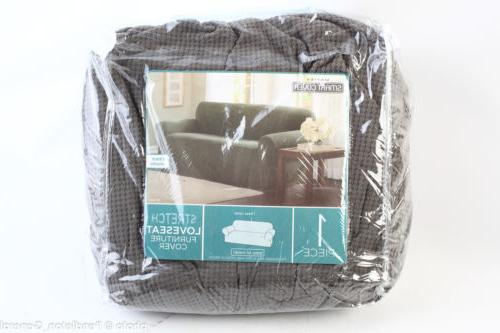 New Maytex Smart Cover Love Seat Couch Slip Cover Stretch Gr