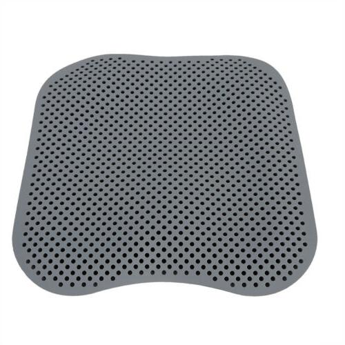 Grey Breathable Silicone Cushion Car Chair USA