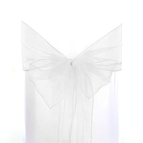 organza sashes chair cover bows
