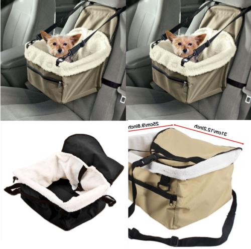 Pet Car Seat Cover Folding Dog Cat Carrier Booster Seat Safe