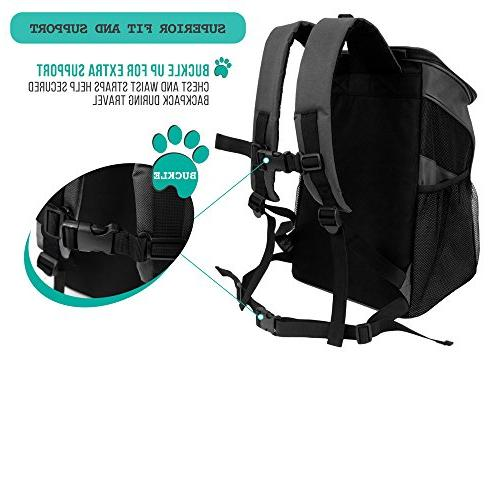 PetAmi Carrier Backpack for and Design, Strap, Support | Travel, Hiking Outdoor Use
