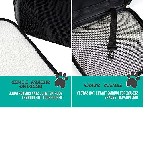 PetAmi Premium Pet Backpack Cats and Design, Safety Strap, Support Travel, Hiking & Use