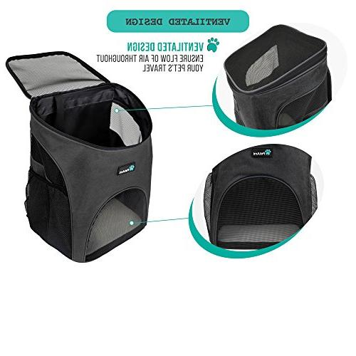 PetAmi Pet Carrier Backpack and | Ventilated Design, Safety Strap, Support for Travel, & Use