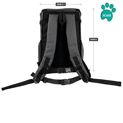 PetAmi Premium Backpack for Small and Dogs | Ventilated Design, Buckle Support | for Use