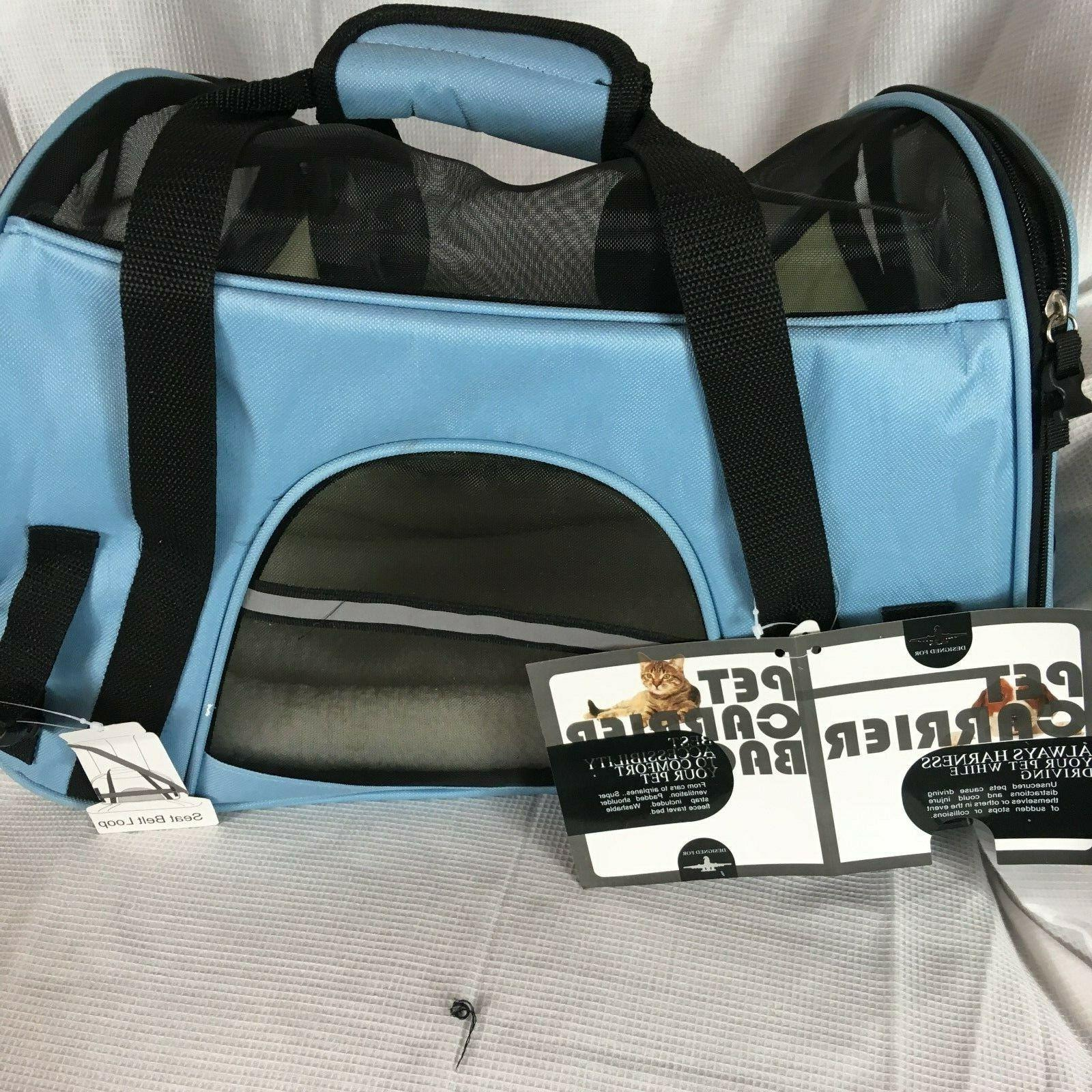 Pet Bag, mineral blue, airline NWT, large up 10