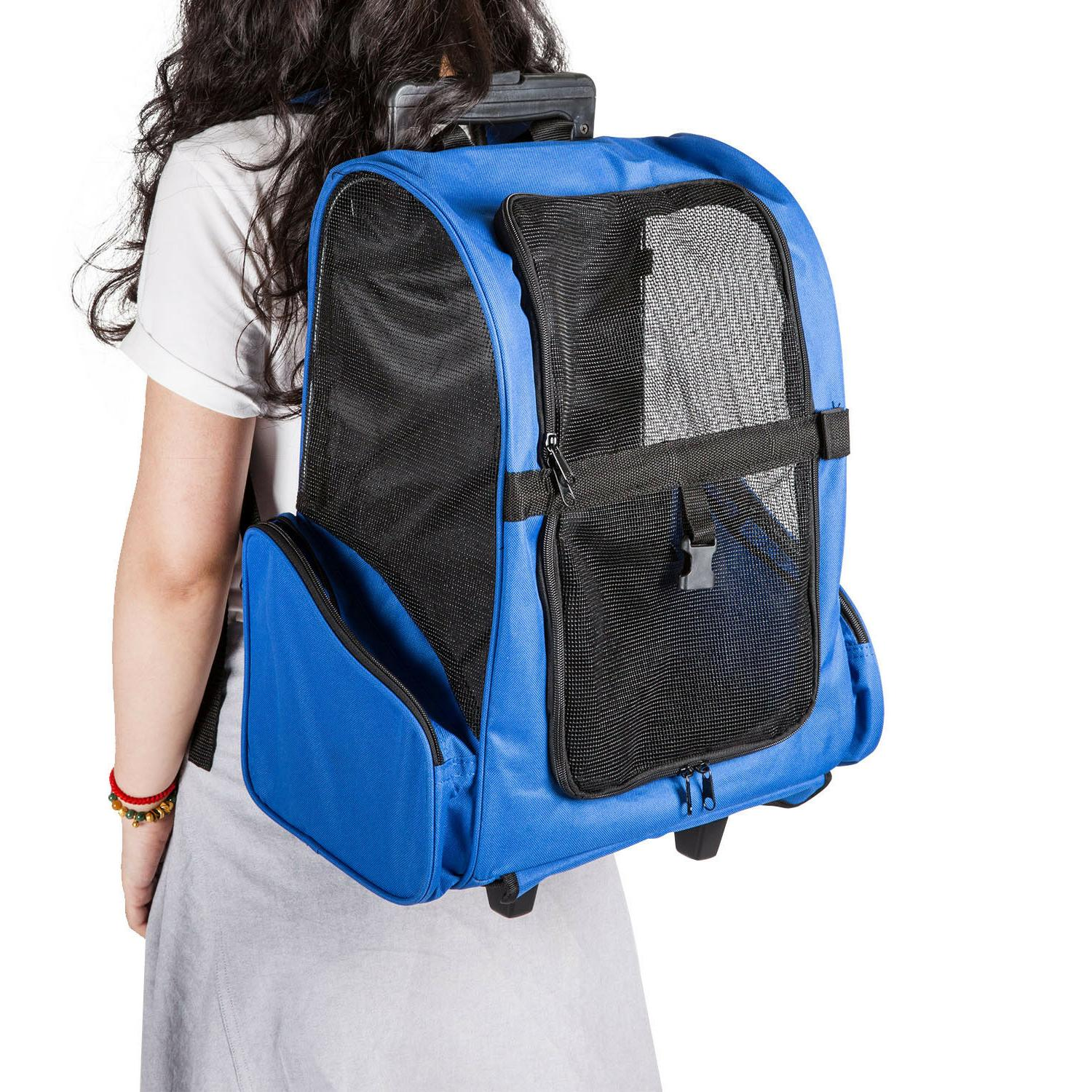Pet Carrier Rolling BackPack Luggage Bags A pproved