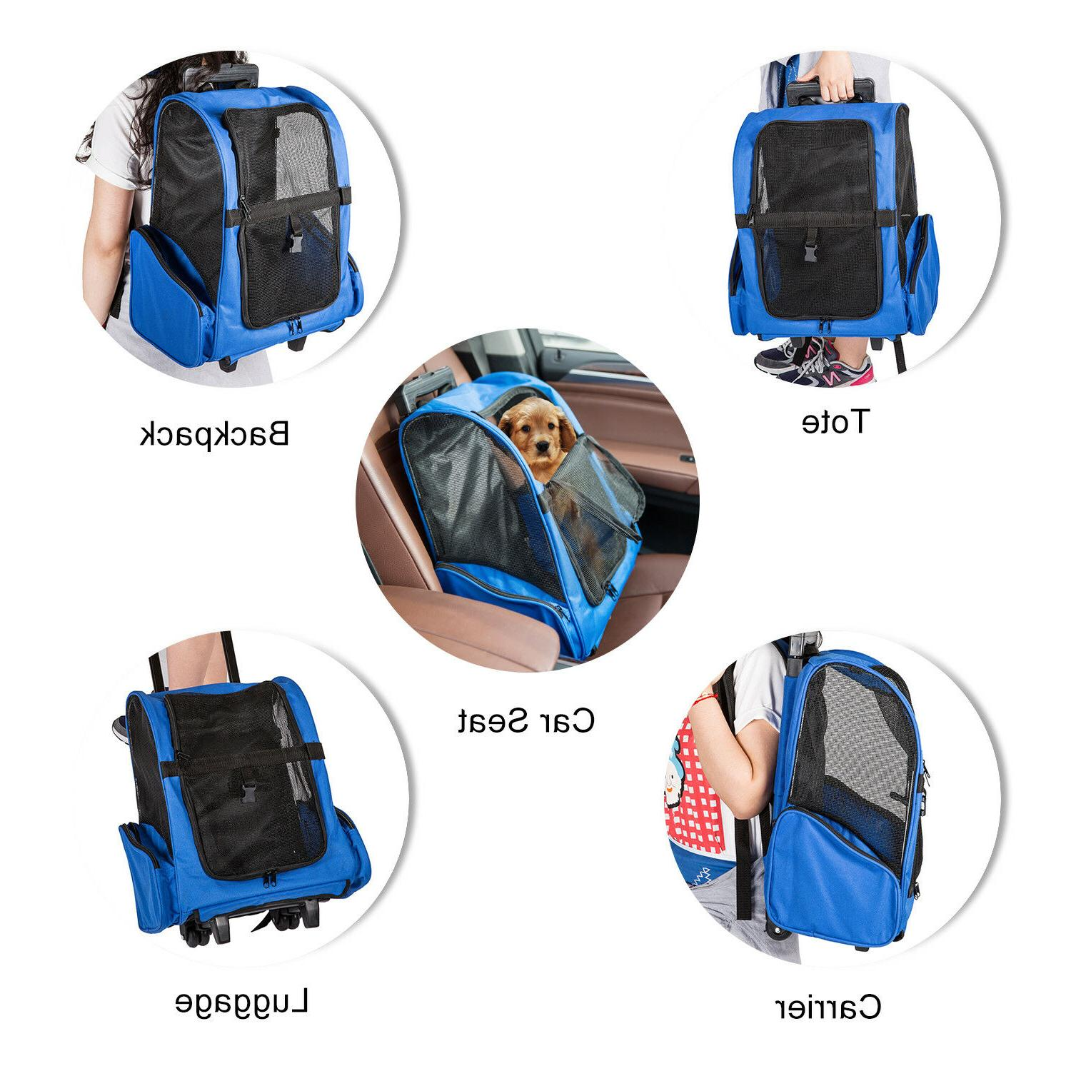 Pet Rolling BackPack Luggage Bags pproved