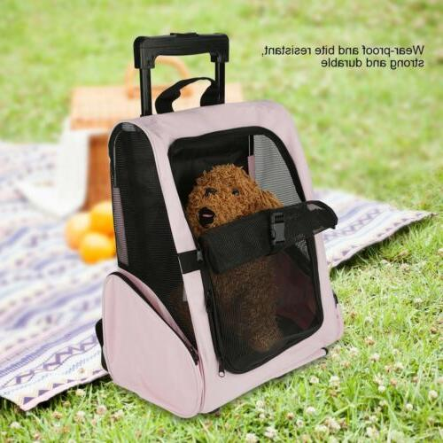 Pet Dog Rolling Luggage Bag Approved